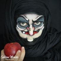 solenn minier maquilleuse professionnelle face painting maquillage sorcière witch blanche neige rennes bretagne