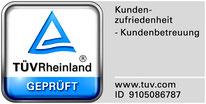 TÜV Siegel geprüfte Kundenzufriedenheit