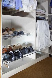 Los zapatos organizados en zapateros extraíbles - AorganiZarte