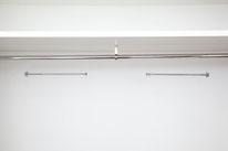 Barras de colgar al fondo del armario. Aprovecha todo el espacio vertical - AorganiZarte