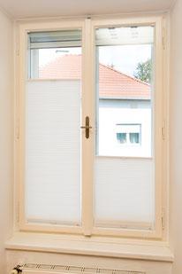 Kranz Kastenfenster, Plissee, Sichtschutz, Sonneschutz