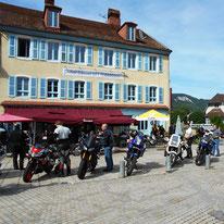 Kaffepause am Biker Treff Les Terrasses