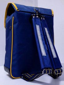 肩ベルトクッションカバー 紺色 装着例