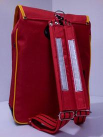 肩ベルトクッションカバー 赤色 装着例