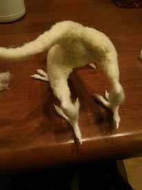 羊毛フェルト ドラゴン オーダー 作り方