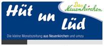 Kopfgrafik der Zeitung Hüt und Lüd, gesetzt bei Röben Printmedien in Neuenkirchen