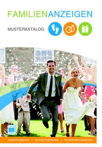 """Musterkatalog """"Geburt"""" für Anzeigen in der Zeitung """"Snevern aktuell"""" oder der Zeitung """"Hüt un Lüd"""", gesetzt bei Astrid Röben Printmedien in Neuenkirchen."""