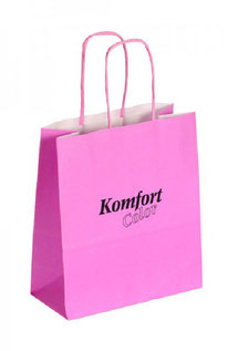 Papiertragetasche Komfort Color in pink