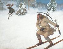 Lemminkäinen, der frühlingshaft Leichtgesinnte, auf der Jagd.