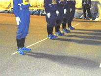 内川分団の青い靴