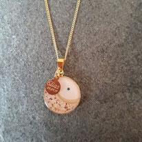 18 mm vergoldetes Medaillon ohne Muttermilch mit Nabelschnur, Haarsträhne, Glitzersteinchen und Gravurplättchen