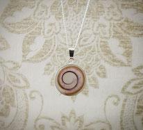 12 mm Medaillon Sterling Silber mit Haarsträhne in Spiralform mit Glitzer