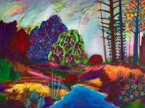Acrylique sur toile: 60x80cm