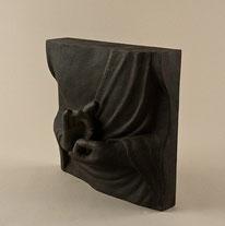 Handgemachtes Fiberpanel, bemalt, 39 cm x 39 cm. 115.–