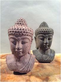 Buddha-Büste klein. Höhe 10cm. 15.- LETZTE STÜCKE