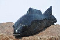 Geschnitzter Fisch, 11kg. Verkauft