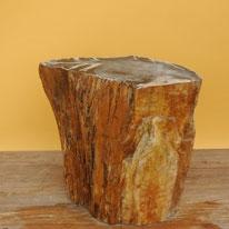 Versteinertes Holz. Höhe 36cm, Breite 35cm, Tiefe 20cm. Stirnflä-che (bläulich) poliert. Sehr schö-nes Stück. 44 Kg, Preis: 450.-