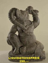 Ganesh, Höhe 52cm, Breite 35cm, Tiefe 20cm. 575.- VERKAUFT
