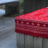 Tapis kilim rouge, berbère, tapis de chambre, tapis décoratif, salon, entrée, déco ethnique chic, deco