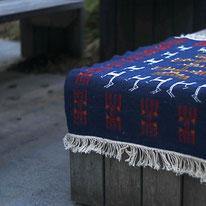 Tapis kilim bleu, berbère, deco, tapis de chambre, tapis décoratif pour salon ou entrée, déco ethnique chic, bleu