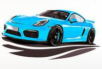 Wallpaper Porsche Cayman GT4