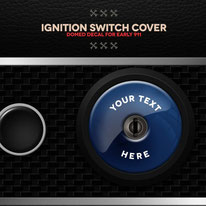 Porsche 911 Ignition Cover Blau