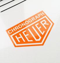 Vintage Heuer Sticker