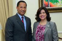 Senador Dionis Sánchez y la Dra. Margarita Cedeño de Fernández