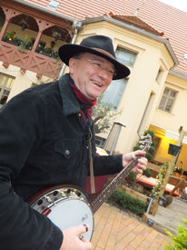 Banjospieler Uckermark Bernd Winkler Kerkow Angermünde, Banjospieler Bluegrass Banjo