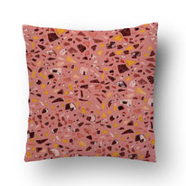 printed cushion by MADEMOISELLE CAMILLE with terrazzo pattern