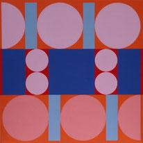 Ellen Roß: squares&circles n°11, 2018, 40 x 40 cm, Vinyl auf Grundierung auf MDF