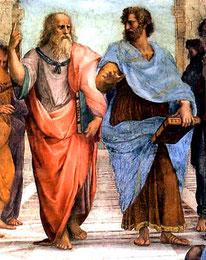 Socrate et Platon par Raphaël.