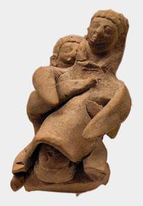 Maïeutica assistant une parturiente, Antiquité grecque