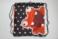 Chilino Backpacker Rucksack Freak Frosch Monster, schwarz