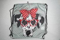 Chilino Backpacker Rucksack Hund Schleife, grau