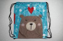Chilino Backpacker Rucksack Bär Teddy Herz, blau