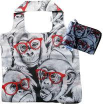 Chilino Bag Gorilla Affe Schimpanse mit Brille, grau