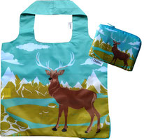 Chilino Bag Tasche Hirsch Elch Berge Schnee, grün