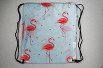 Chilino Backpacker Rucksack Flamingo, hellblau, rosa