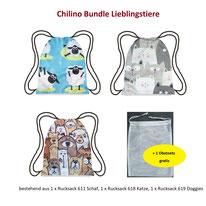 Polyester Chilino 934 Bundle Land /& Wasser Set Einkaufstasche gro/ß und stabil umweltfreundlich und bunter Faltbarer Rucksack//Backpacker//Turnbeutel