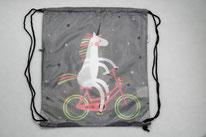 Chilino Backpacker Rucksack Einhorn Fahrrad, grau