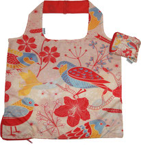 Chilino Bag Tasche Nature Natur Vogel, rot, orange