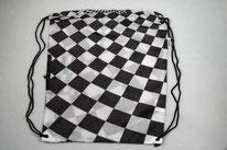 Chilino Backpacker Rucksack Karos Kästchen, schwarz, weiß