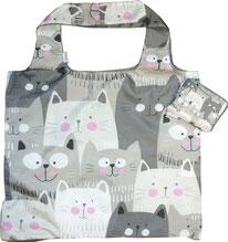 Chilino Bag Tasche Katze, grau