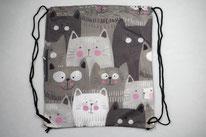 Chilino Backpacker Rucksack Katze, grau