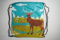 Chilino Backpacker Rucksack Hirsch Elch Berge Schnee, grün