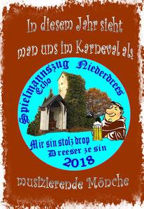 Spielmannszug musizierende Mönche in Rheinbach Niederdrees