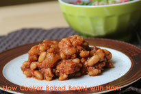 slow cooker baked beans and ham recipe that is so simple, delicious, and healthy!  by homemade nutrition - www.homemadenutrition.com