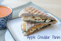apple, cheese, and spinach panini - homemade nutrition