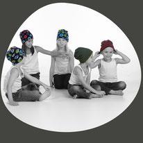 Wintermütze als Buff, Bernie oder Loop? Selbst genäht aus Jearsy Baumwolle für Kinder, Mädchen und Jungs. Hüte die warm geben und modisch sind.